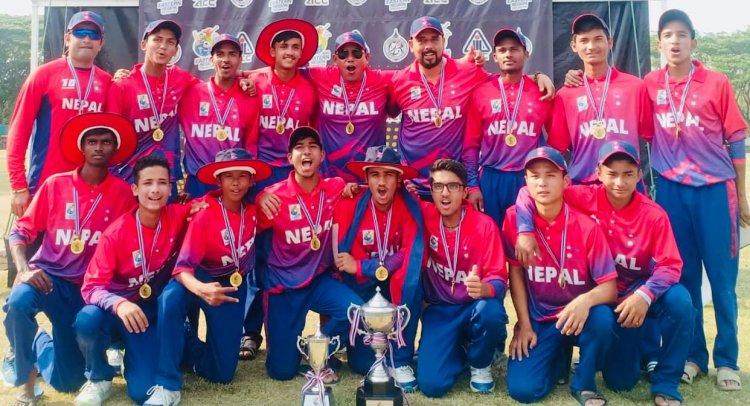 मलेसियालाई हराउदै नेपालले जित्यो एसीसी यू–१६ क्रिकेटको उपाधि