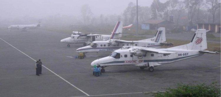 वायुप्रदुषण प्रभाव: हुम्लामा तुवाँलोले दुई दिनदेखि हवाई सेवा प्रभावित